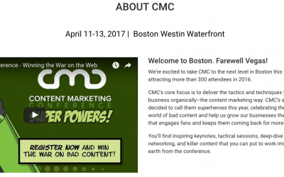 Run Don't Walk to Book for #CMC17 in Boston