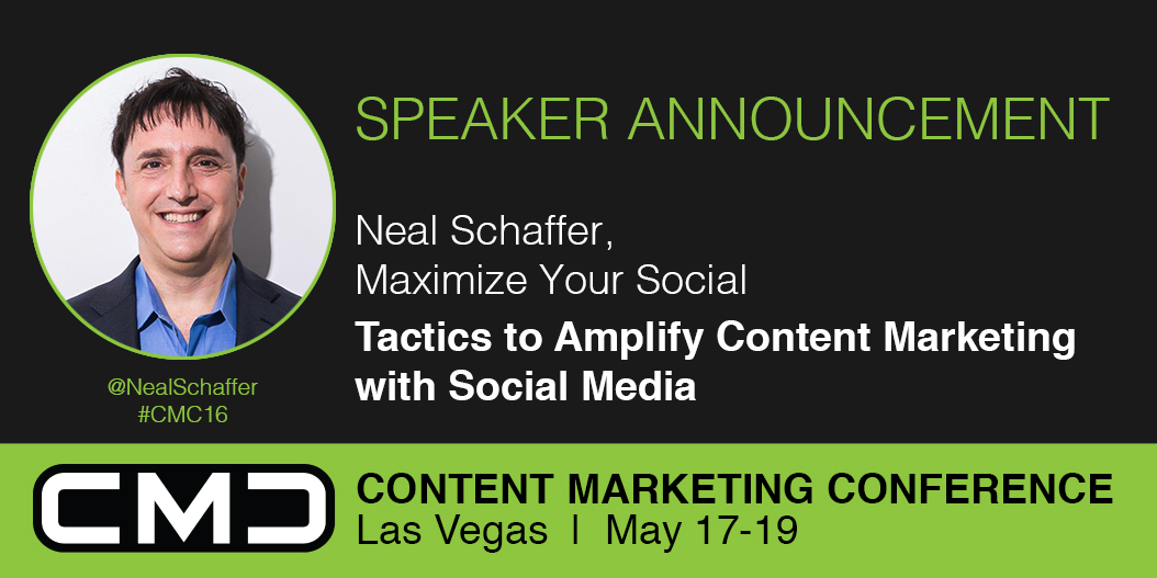 #CMC16 Speaker Spotlight: Neal Schaffer, Maximize Your Social