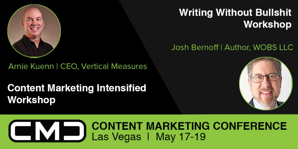 Announcing CMC16 workshops with Josh Bernoff and Arnie Kuenn